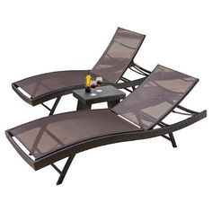 Christopher Knight Home Kauai 3-piece Wicker Patio Adjustable Chaise Lounge Set