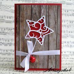 Vánoční+přání+červené+hvězdička+Přáníčko+z+papíru+velikost+a6.