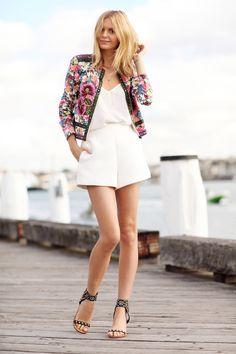 Asos Cami + White High Waist Shorts http://FashionCognoscente.blogspot.com