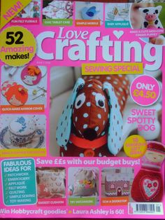 Love crafting - Sewing Book Crafts, Hobbies And Crafts, Crafts To Make, Fun Crafts, Craft Books, Cute Sewing Projects, Sewing Crafts, Cross Stitch Charts, Cross Stitch Embroidery