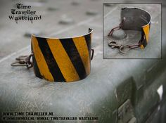 Post Apocalyptic Hazard Bracelet  number license door TravellerWasteland - Dieselpunk Raider Apocalypse Wasteland Wastelander