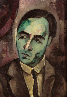 The Poet Antonio de Navarro, 1929 by Mario Eloy (Portuguese 1900-1951)