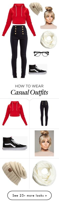 """""""•Casual days •"""" by allyzaragoza1025 on Polyvore featuring Balmain, Vans and EyeBuyDirect.com"""