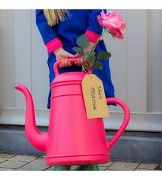 Xala Gieter Lungo roze kunststof ø26x43cm 12L - wonenmetlef.nl