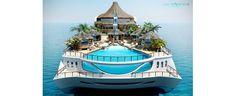 Yacht Island Design Concepts   Themed Yacht Creators   Luxury Super Yacht Designers - Tropical Island Paradise - Design Your Own Yacht Island.