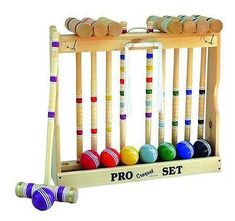 Balls and More and a Carrying Bag for Portability Comes with Mallets Kids Croquet Set for 4-Players Great for Birthday Parties BBQs Wickets Picnics Classic Outdoor Lawn Game for Children