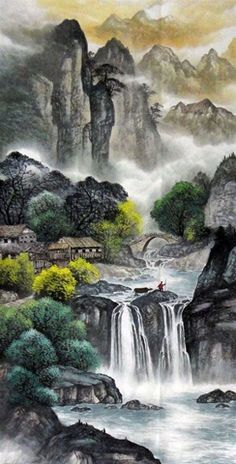 Nostalgia Hanging scroll painting Traditional Masterful painter Office Original Home Landscape Painting. Online shopping for Landscape Painting, Buy at holoong.com on sale!