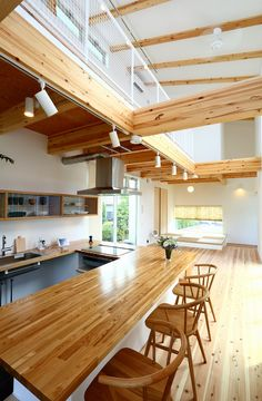 Interior Architecture, Interior Design, Simple House Design, Wooden House, Home Hacks, Kitchen Interior, Kitchen Storage, Future House, Home Kitchens