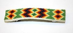 Nice Hand Crafted Beaded Geometric Design Native American Indian Indian Barrette | eBay