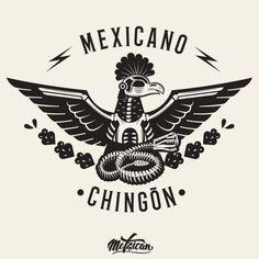 """""""Mexicano Chingón es aquel y aquella que día a día hace de México un país mejor para vivir; que trabaja, que lucha, que enseña y comparte lo mejor de sí"""" ⚡ Etiqueta quien para ti es un Mexicano Chingó Art Chicano, Henne Tattoo, Mexican Art Tattoos, Aztec Tattoo Designs, Handpoke Tattoo, Art Tribal, Mexico Art, Geniale Tattoos, Mexican Designs"""