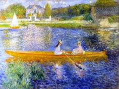 Pierre-Auguste Renoir - The Skiff (La Yole)  Arteeblog Series: Great dealers and patrons of the arts - The man who invented Impressionism - with photos, video and exhibition in 2015 http://www.arteeblog.com/2015/05/series-arteeblog-grandes-marchands-e.html