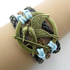 Unisex Love Birds Hunger Games Bracelet Leather Bracelet Cool