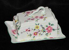 Old Foley James Kent England Chinese Rose Porcelain China Cheese Lid Dish Tray | eBay
