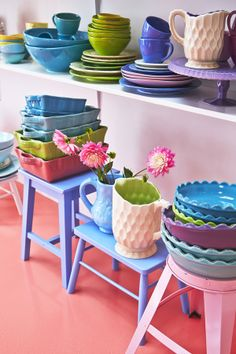 colourful ceramics  - Rice Dk