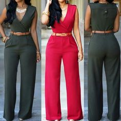 Pocket Design Ankle Length Jumpsuit Rosewe Here->http://goo.gl/oypEu1 #FreeShipping More here->http://goo.gl/nic8sK