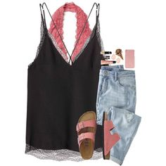 A fashion look from August 2016 featuring Wrap jeans, Free People bras and TravelSmith sandals. Browse and shop related looks.