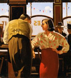 Jack Vettriano The Barmaid s Fancy Painting sale, painting - $3,000.00 Authorized official website