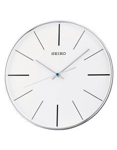 Ideal for the office, classroom or waiting room this contemporary wall clock from Seiko features a quiet sweep second hand (no ticking sound) and large easy to