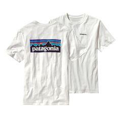 Patagonia Men\'s P-6 Logo T-Shirt - White WHI-725