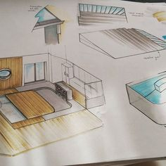 Extension house / veranda with removable swimming pool Canopy, Swimming Pools, Sketch, Photo And Video, Architecture, Spring, Drawings, Kitchen, House