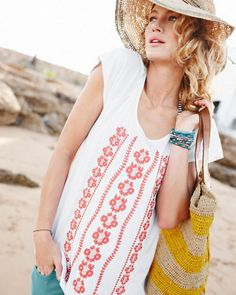 Maya Embroidered Knit Top