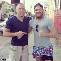 Georges St-Pierre and Conor McGregor : if you love #MMA, you'll love the #UFC & #MixedMartialArts inspired fashion at CageCult: http://cagecult.com/mma