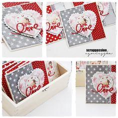 scrappassion: kartki Valentine Crafts, Valentine Day Cards, Wedding Cards, Elsa, Card Making, Poster, Anniversary, Invitations, Love