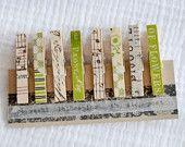 Washi tape clothespins....such a good idea.
