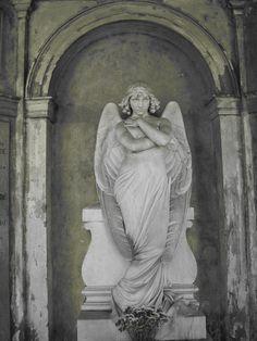 sculpture by Giulio Monteverde on the Monteverde tomb in Campo di Verano…