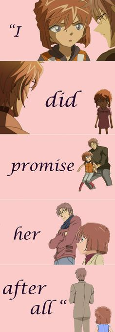 ♥@CharmingMystery♥: Akai promised to protect Haibara... And he always will.