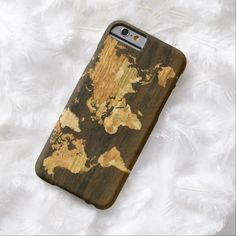 Wooden World Map Barely There iPhone 6 Case