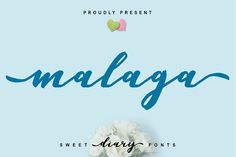 Malaga Diary | A Sweet Diary Fonts by Fittingline Type Supply on @creativemarket