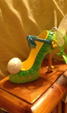 disney vshoe ornaments | Tinkerbell shoe ornament Disney | Fimo