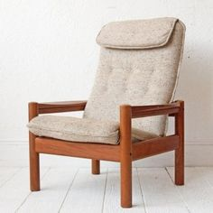 relax chair from teak wood handmade Mahogany Furniture, Teak Furniture, Danish Modern, Midcentury Modern, Teak Wood, Relax Chair, Armchair, Upholstery, Objects