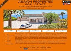 Site internet sur Mesure : http://www.amandaproperties.fr/ 93, Boulevard de la Croisette 06400 Cannes Tél : +33 (0)4 93 43 33 33