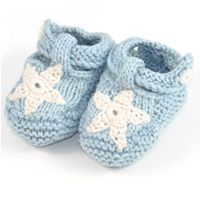 Organic Handmade Fairtrade Knitted Baby Booties