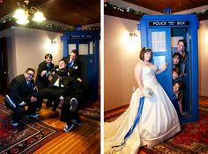 TARDIS photo opp! Oh hey, my wedding is going around on pinterest XD