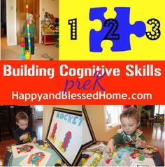 Pre-school Prep for Kindergarten Cognitive : Happy and Blessed Home Montessori Preschool, Preschool Learning Activities, Preschool At Home, Preschool Curriculum, Toddler Preschool, Free Preschool, Fun Learning, Preschool Activities, Teaching Kids