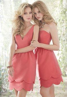 scallop bridesmaid dresses