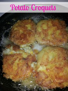 Potato Croquets-a delicous way to use up leftover mashed potatoes and make a whole new #recipe! ~The Homesteading Hippy