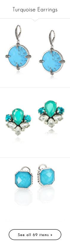 """""""Turquoise Earrings"""" by english-thea ❤ liked on Polyvore featuring jewelry, earrings, marcasite earrings, disc drop earrings, turquoise jewelry, coin jewelry, coin earrings, turquoise, crystal tear drop earrings and tear drop earrings"""