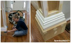 How to build decorative columns in a doorway