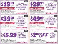 graphic relating to Claires Coupon Printable named 72 Most straightforward Chuck E Cheese Printable Discount coupons, Totally free Tokens visuals
