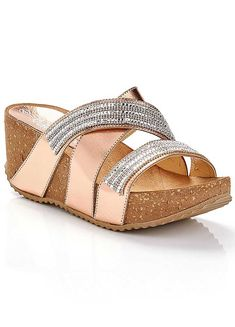 Metallic Diamante High Wedge Sandals by Kaleidoscope Holiday Style, Holiday Fashion, High Wedges, You Bag, Wedge Sandals, Espadrilles, Metallic, Rose Gold, Heels