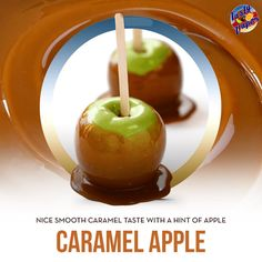 Enjoy the sticky and sweet flavor of delicious caramel apple flavor. #vape #ejuice