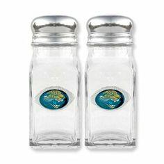 NFL Jaquars Glass Salt and Pepper Shakers Real Goldia Designer Perfect Jewelry Gift goldia. $20.50