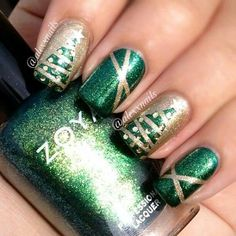 Love this and this is a definite possibility for my Christmas nail art!