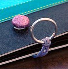 Fermeture par un anneau fixé sur un élastique