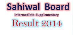 sahiwal board intermediate supply result 2014