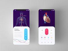 Health Control Super Dope Animation by Tiffany Stewart Web Design, App Ui Design, Interface Design, Site Design, Flat Design, Mobile Ui Design, Iphone Ui, Page Web, Mobile Mockup